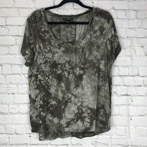♣️ Rock & Republic Tie Dye Studded T Shirt XL
